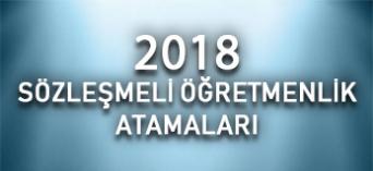 Yediiklim - 2018 Sözleşmeli Öğretmenlik Atamaları